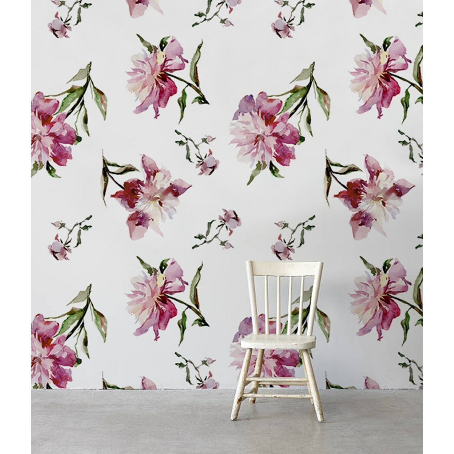 Falling Watermelon Peonies Non-Woven wallpaper Traditional Roll Home Mural