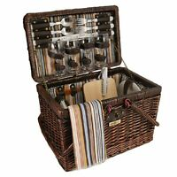 Picnic & Beyond Willow Picnic Basket For 4, New, Free Shipping on sale