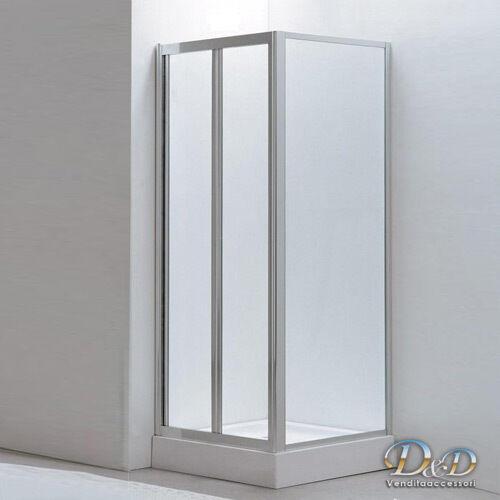 Box doccia angol apertura a libro 90X100 90X90 90X80 70X90 cristallo reversibile