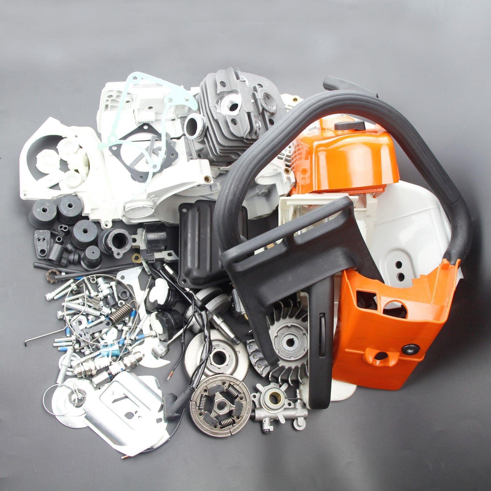 Completa de piezas para STIHL MS360 036 MS340 034 Motosierra Cilindro Cubierta del cárter