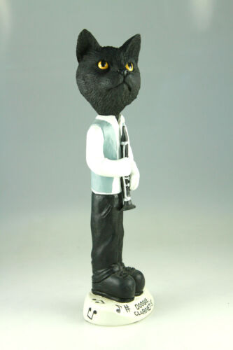 CLARINETIST BLACK CAT INTERCHANGABLE BODY SEE BREED BODIES @  STORE