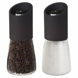 "Trudeau Maison 6"" Oslo No Mess Salt & Pepper Mill / Grinder Set   Black by Trudeau"