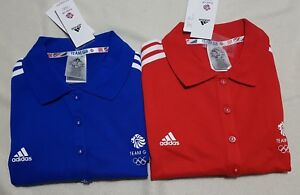 Adidas Women's Official Team Gb Athletics Polo Shirt - M - Red Or Blue Rrp 29.95 BüGeln Nicht