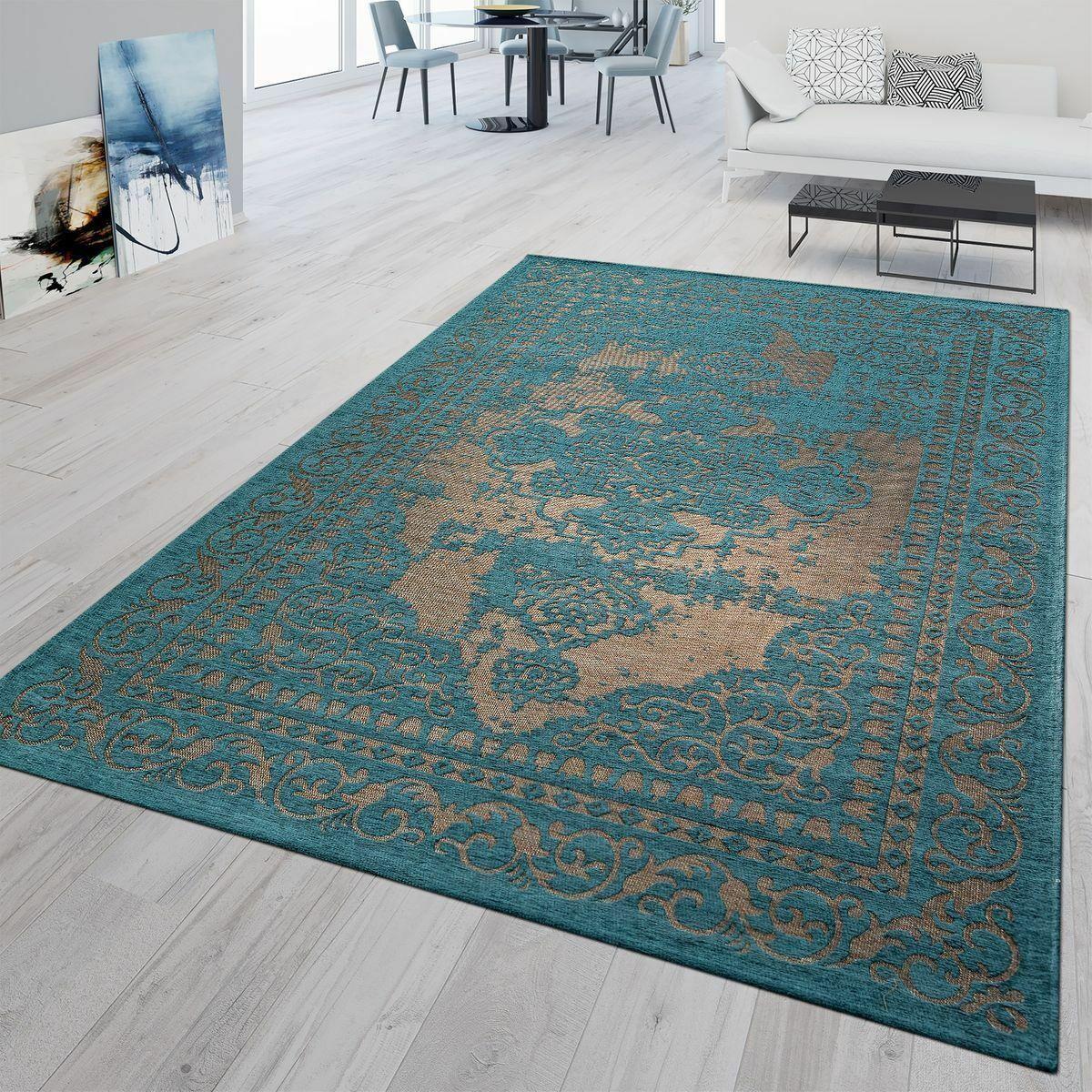 Tappeto Moderno Tradizionale Tappeti interni stile shabby tappetini TAPPETI ORIENTALI Colore Foglia Di Tè Beige