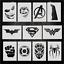 Super-Hero-Stencils miniature 1