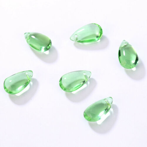 Loose beads 100pcs Crystal Glass Pendants 13x8mm DIY Jewelry making Teardrop