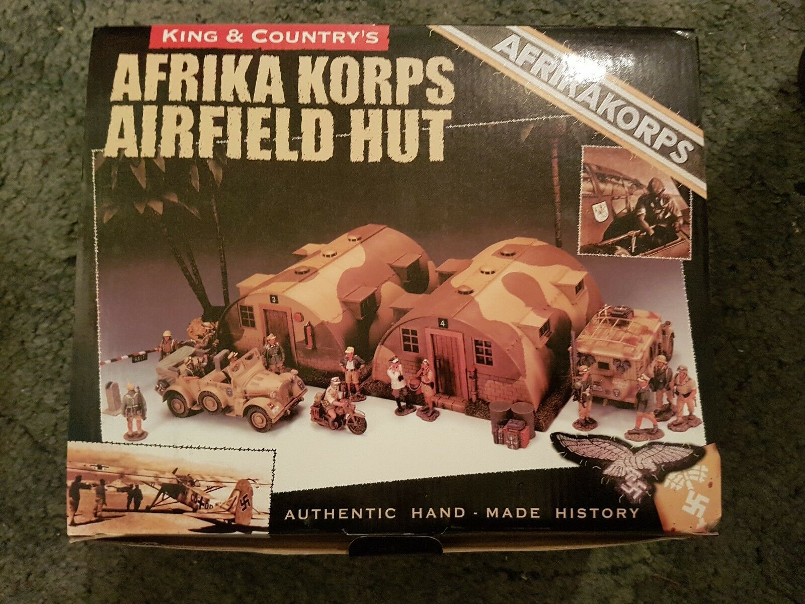 King and country Afrika korps Airfield Hut