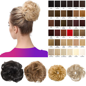 Large-n-Small-Hair-Scrunchie-Wrap-Curly-Wavy-Messy-Bun-Updo-Hairpiece-Extension