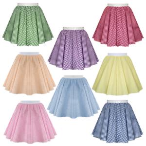 Girls Kids Gingham BARN DANCE Skirt - COW GIRL Line Dance ...