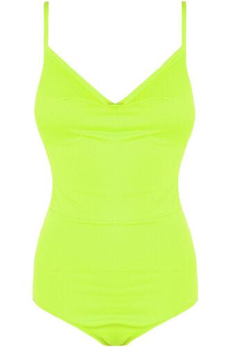 Strappy Cowl Neck Neon Bodysuit Bodycon Low Back Bright Party Top Vest Leotard