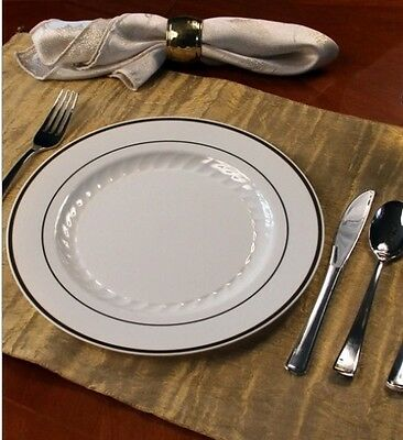 Bulk Wedding Disposable Plastic Plates & Silverware Salad + Dinner Plates