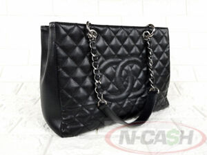 BIDSALE-AUTHENTIC-2900-CHANEL-Quilted-Caviar-Leather-Grand-GST-Shopper-Bag