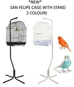 NEW-RAINFOREST-SAN-FELIPE-C7-BUDGIE-CANARY-FINCH-CAGE-WITH-STAND-2-COLOURS