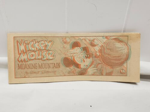 1954 Walt Disney Mickey Mouse Moaning Mountain 3D Mini Comic Cheerios Promo