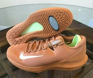 efa0c1a5f097 Nike Court Air Zoom Zero HC Men s Tennis Flax Tan Beige Volt AA8018 ...