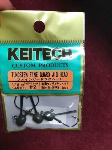 Keitech Tungsten Fine Guard Jig Head 1//8oz #2 Decoy Hook 3pcs New