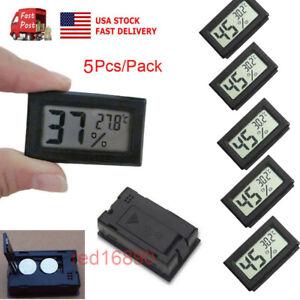 US-Mini-5PCS-Digital-LCD-Temperature-Humidity-Meter-Home-Thermometer-Hygrometer