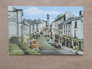 VINTAGE-POSTCARD-HIGH-STREET-AND-TOWN-HALL-ENNISKILLEN-CO-FERMANAGH-5444