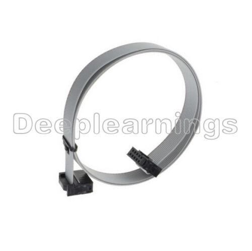 10PCS 70CM 10 Pin USBISP USBASP JTAG AVR Download wire 10P Ribbon Cable 2.54mm T