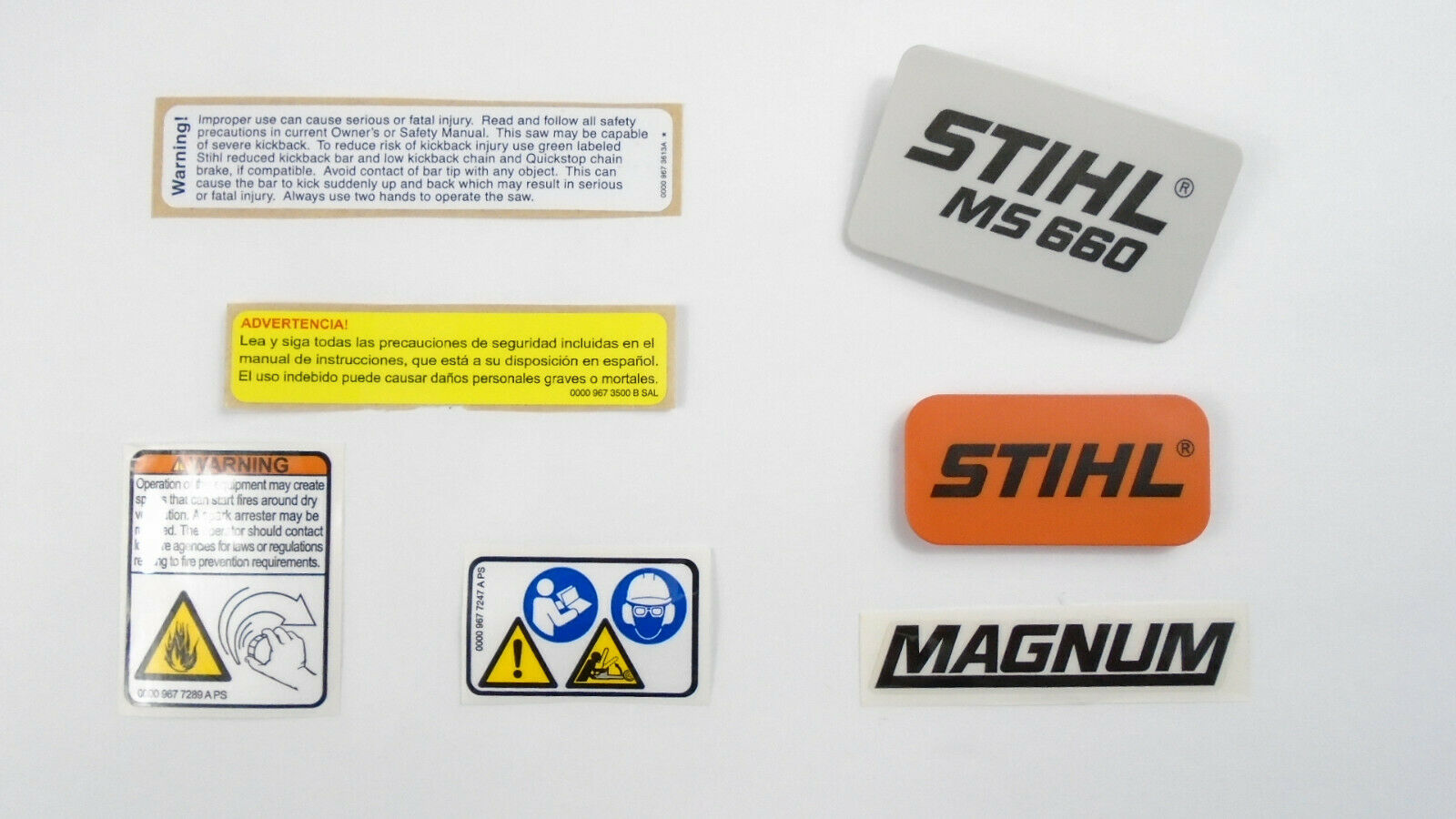 NAME TAG MODEL PLATE FOR STIHL MS362C CHAINSAW # 1140 9671503 ...