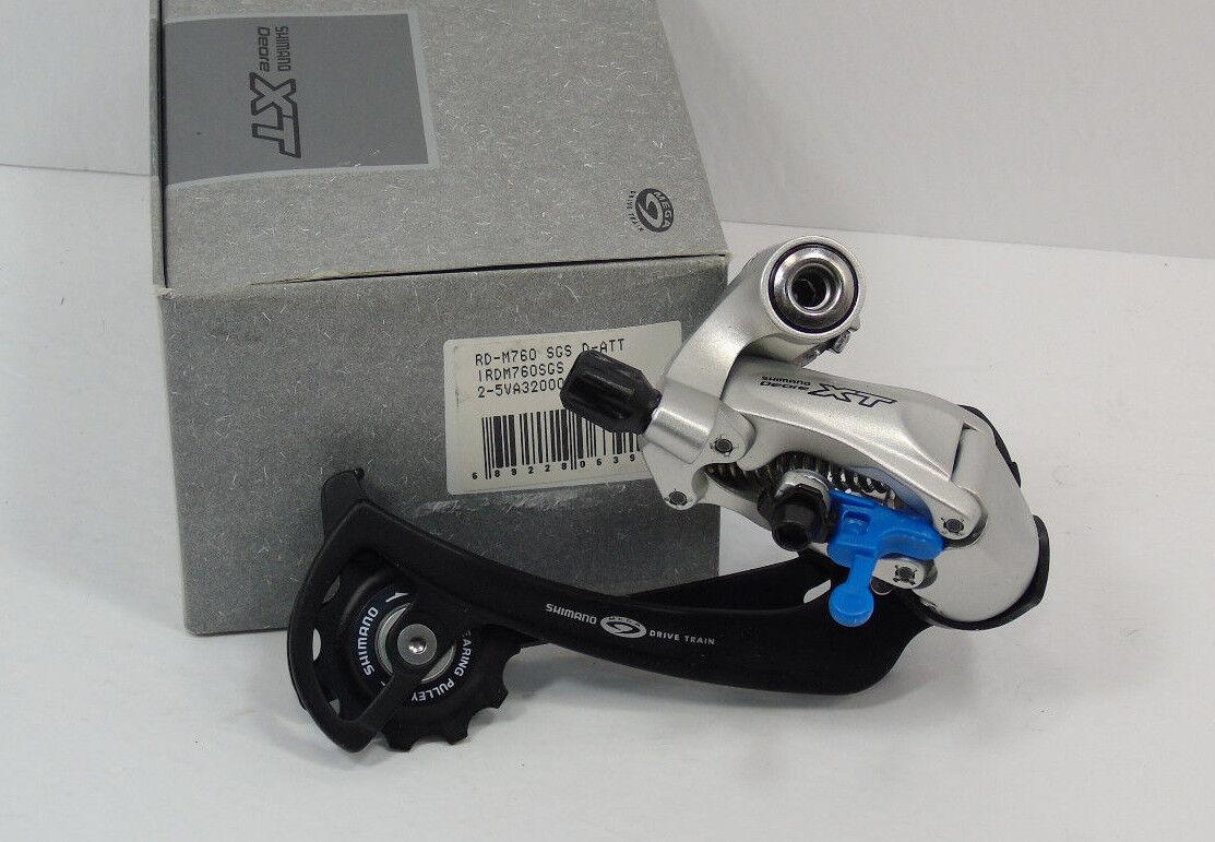 Genuine Nos Nos Nos Shiuomoo XT Rear Derailleur, RDM760 SGS, 9 Speed, Bre nuovo In scatola d78