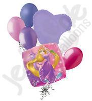 7 Pc Rapunzel Disney Princess Balloon Bouquet Tangled Birthday Party Decoration