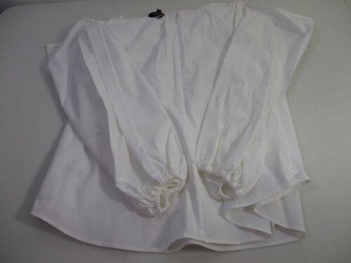 Theory Laureema Off-The-Shoulder Poplin Top Blouse WHite NWT $295 Sz 10