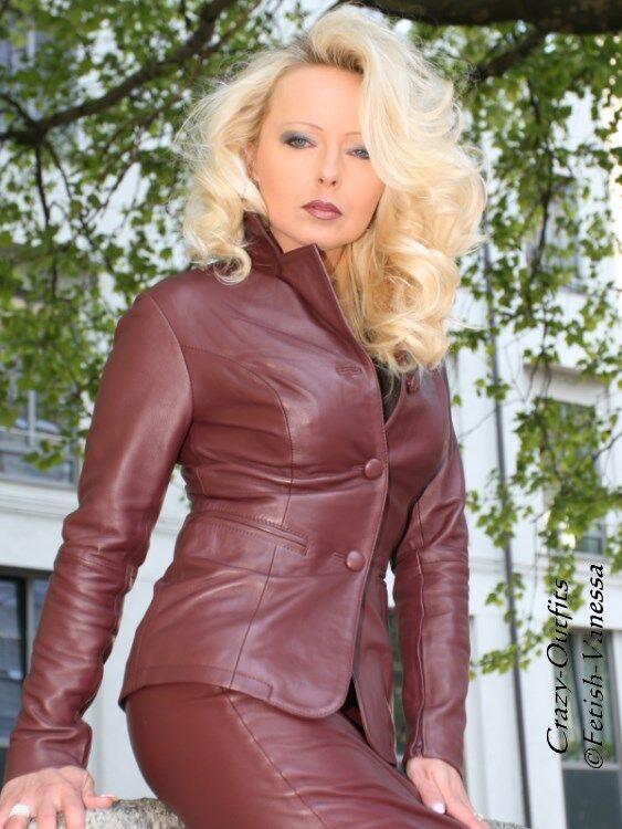 Chaqueta de cuero de cuero BLAZER chaqueta  Borgoña geknöpft tamaño 32 - 58 XS-XXXL  barato