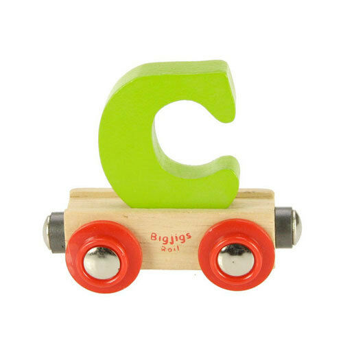 Bigjigs - Rail Name Letter  C Green NEW toy wooden rail train system accessory