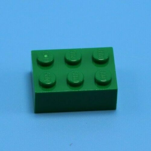 LEGO 10-2x3 Classic Green Bricks Lot of Assorted Lego Bricks Pieces