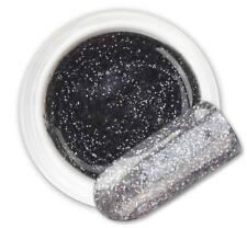 Eclipse Black 134 GEL UV E LED GLITTER COLORATO RICOSTRUZIONE UNGHIE NAIL