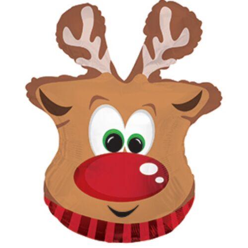 "Rudolph the red nosed reindeer Navidad Globos De Papel de Aluminio Globos para embutidora 26/""!"
