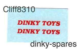 Dinky-482-Bedford-Van-DINKY-TOYS-Waterslide-Transfer-Decal