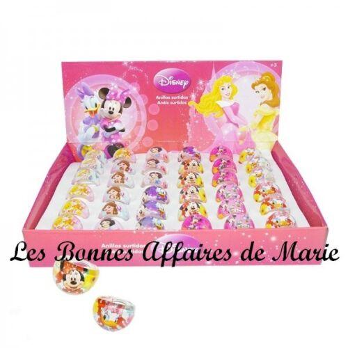DISNEY - PROMO -30% - Lot de 4 bagues Princesses, Minnie, Daisy - Neuf étiquette
