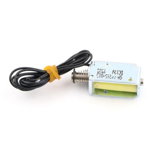 DC 12V Push Pull Type Rod Solenoid Electromagnet DC Mini Solenoid Stroke 4mm $ER