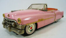 Vintage 1950 PINK CADILLAC CONVERTIBLE Friction Toy Car 50's Co. JAPAN Nice!!!