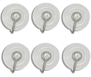 6-x-Suction-Cup-Metal-Hook-40mm-Sucker-Hanger-Glass-Window-Bath-Tile-Xmas-Decs
