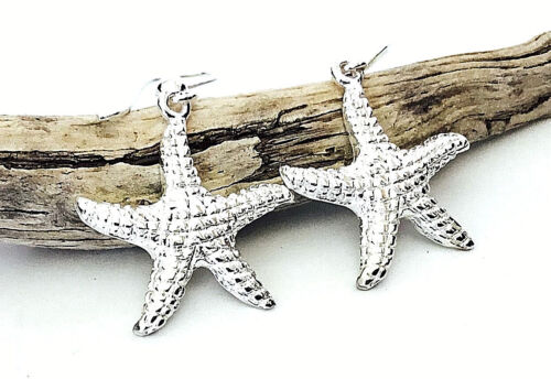 Sterling Silver Starfish Dangle Earrings Gift Boxed