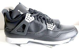 155fe3431c2 Nike Air Jordan 4 IV Retro Metal Baseball Cleats Oreo Black 807710 ...