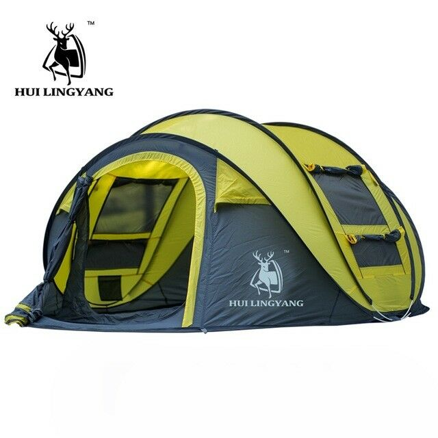Outdoor Instant Pop Pop Instant Up Tent 3-4 Person Family Portable Double layer Camping Tent 3442e4