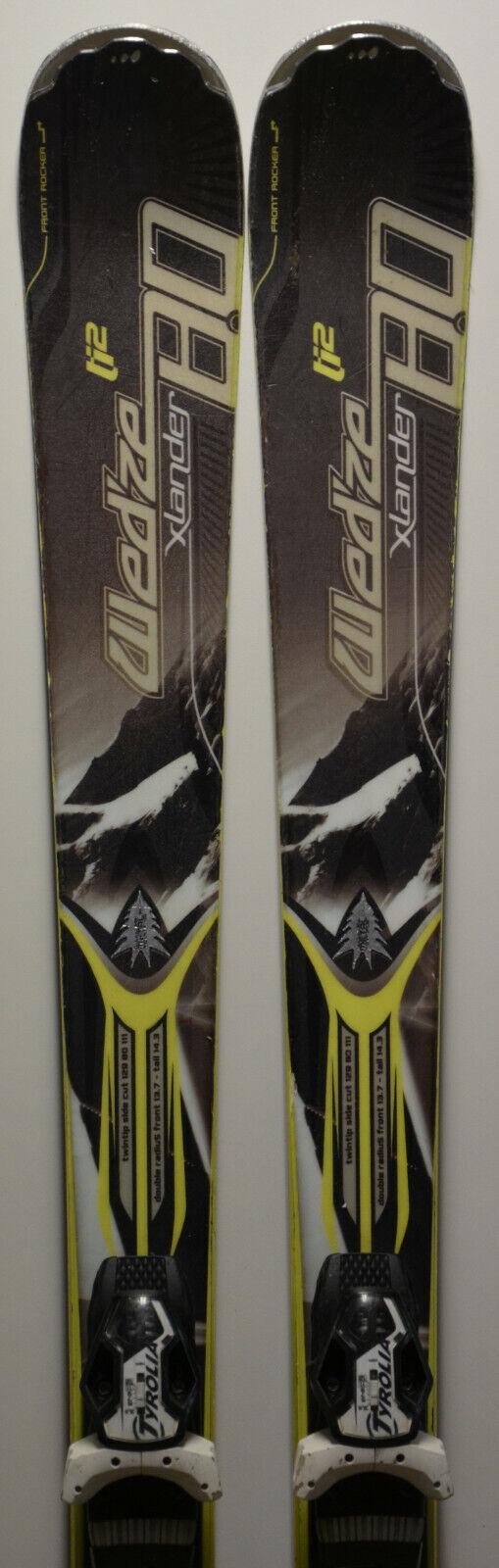 Esquís parabólico usado WED'ZE Xlander 80 + Fijaciones - 170cm 177cm