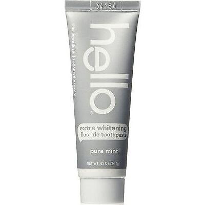 Hello Extra Whitening Fluoride Toothpaste, Pure Mint 0.85 oz