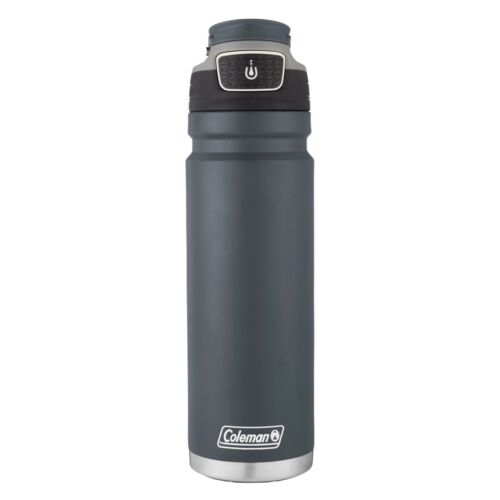 Coleman FreeFlow Autoseal Water Bottle 24oz Slate Blue Stainless Steel Insulated