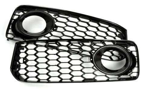 Für A5 S-line S5 RS5 Look Nebelscheinwerfer  Wabengrill Gitter Kühlergrill Grill