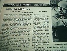 newspaper cutting 1956 film review kings go forthsinatra