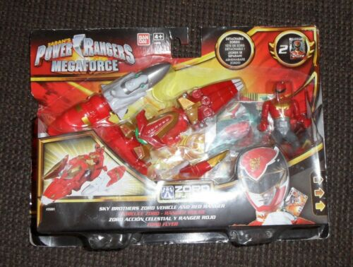 Power rangers  Megaforce  zord builder red vehicle megazord builder New in box
