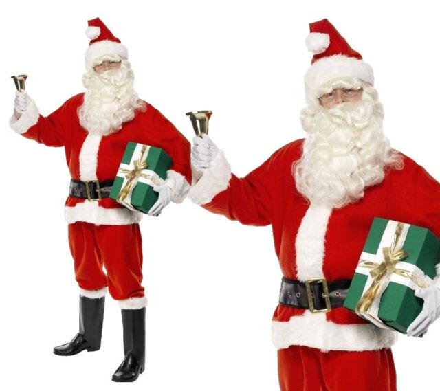 "Mens Father Christmas 11/"" Beard Adult Santa Claus Fancy Dress Accessory Standard"
