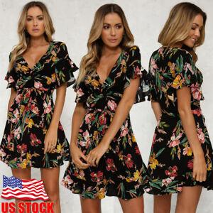 Women-Summer-Boho-Short-Mini-Dress-Evening-Cocktail-Party-Beach-Dresses-Sundress