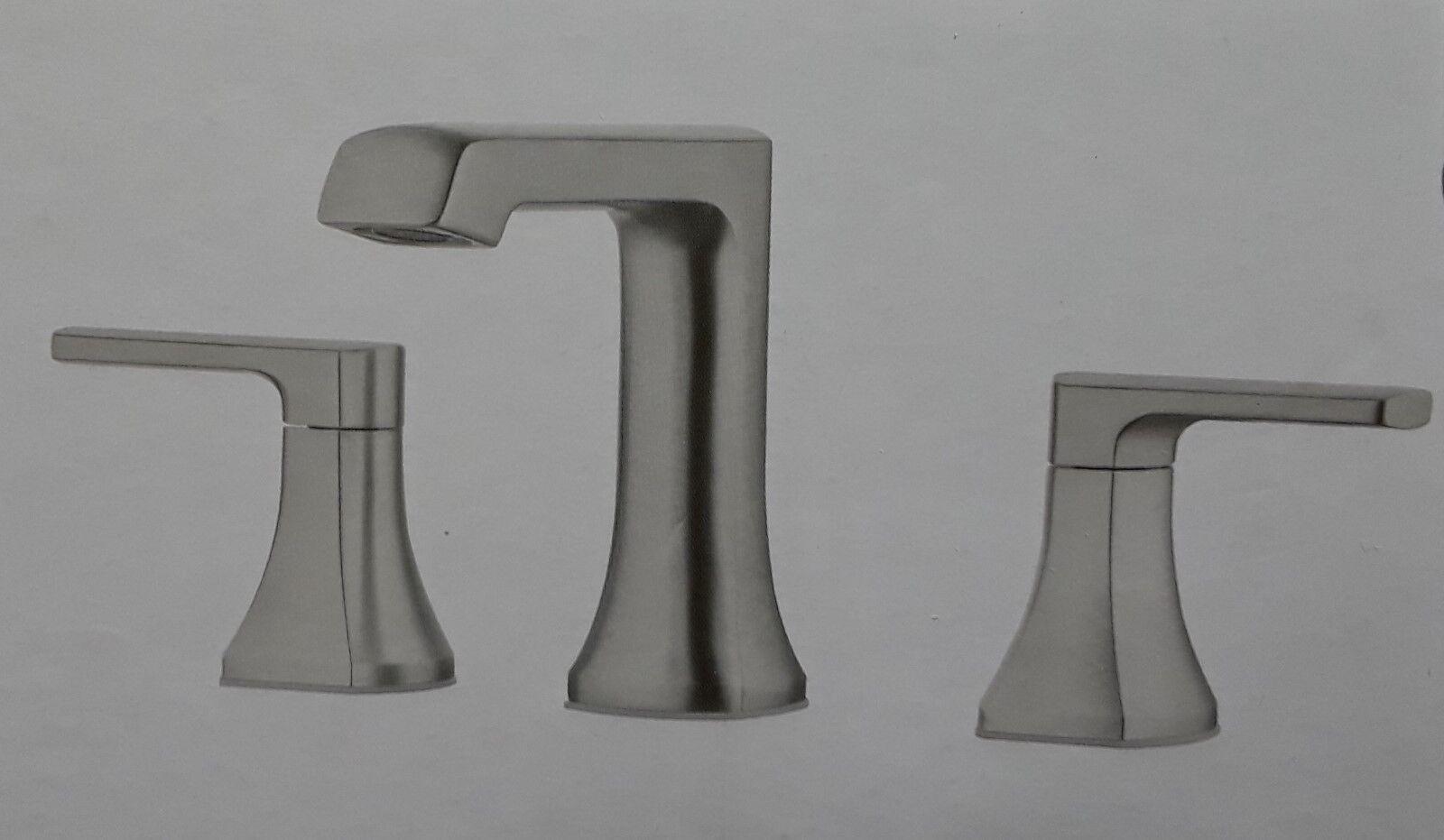 Pfister Brea LF-049-BRKK Widespread 2-Handle Waterfall Bath Faucet Brush Nickel