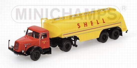 1 43 MINICHAMPS HENSCHEL HS 140 TANKER TRUCK SHELL 1954 499171970 RARE NEW